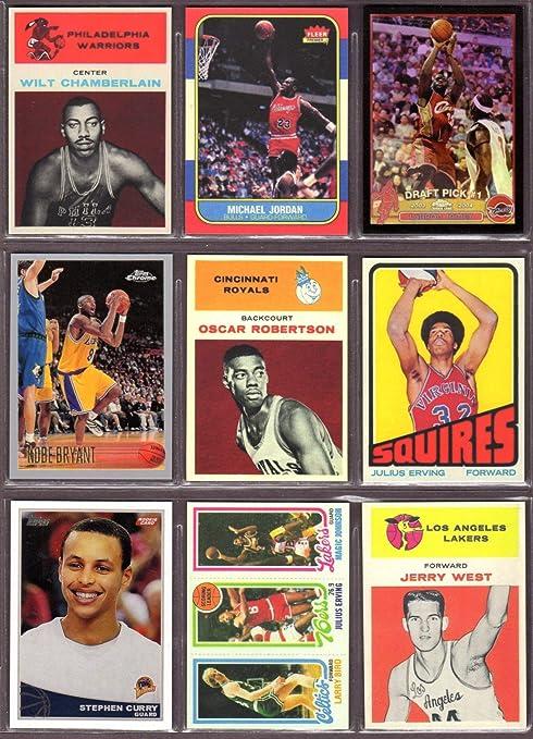 80a70e88a8a Ultmate Basketball Rookie Reprint (9) Card Lot #2 * Wilt Chamberlian,  Michael