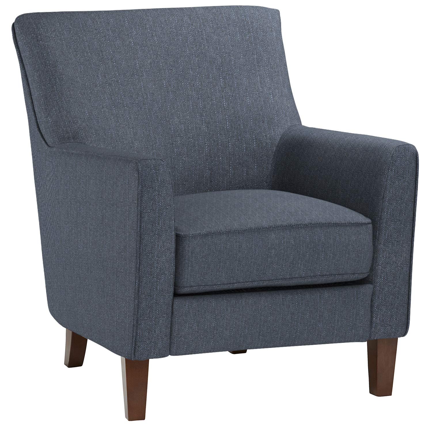 "Stone & Beam Cheyanne Modern Living Room Accent Arm Chair, 30.7""W, Blue"