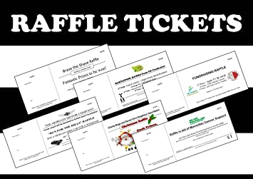 500 personalised raffle tickets printed numbered perforated in