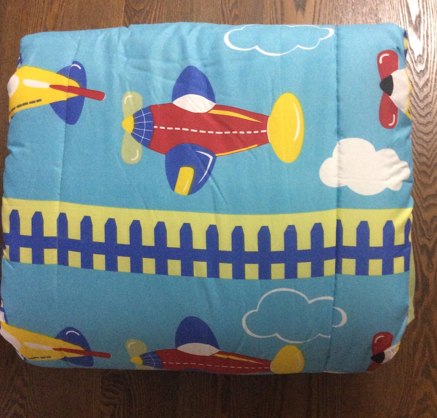 Best Seller Airplanes,Truck Boys Chic Comforter Set,Sheet Set, 6 Pcs Twin