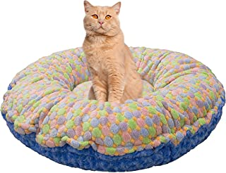product image for Bessie and Barnie Ice Cream/Blue Sky Luxury Ultra Plush Faux Fur Bagelette Pet/Dog Bed (Multiple Sizes)