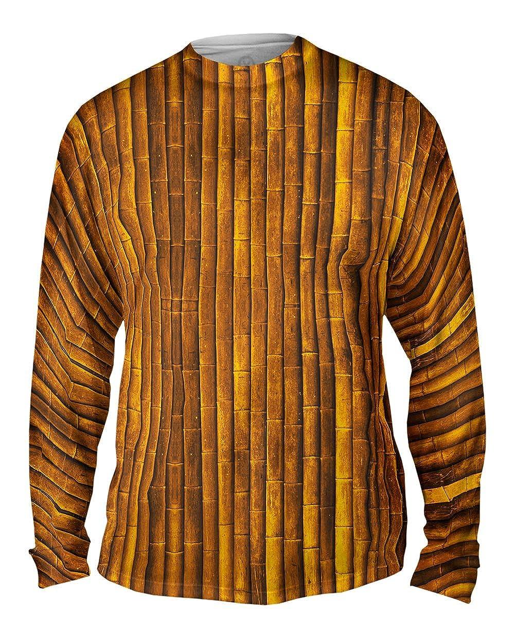 Yizzam Bamboo Wall TShirt Mens Long Sleeve