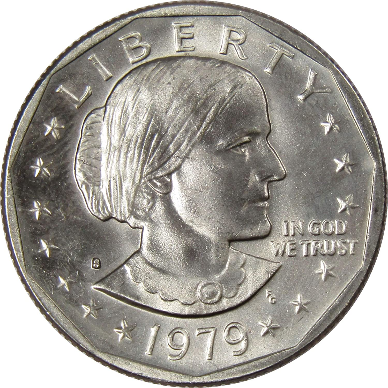 """1980 D Susan B Anthony Dollar US Mint Coin in /""""About Uncirculated/"""" Condition SBA"""