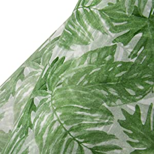 WRAPAHOLIC Gift Wrapping Tissue Paper - 25 Sheets Palm Leaves Deisgn Gift Wrap Paper Bulk for Packing, DIY Crafts - 19.7x27.5 inch