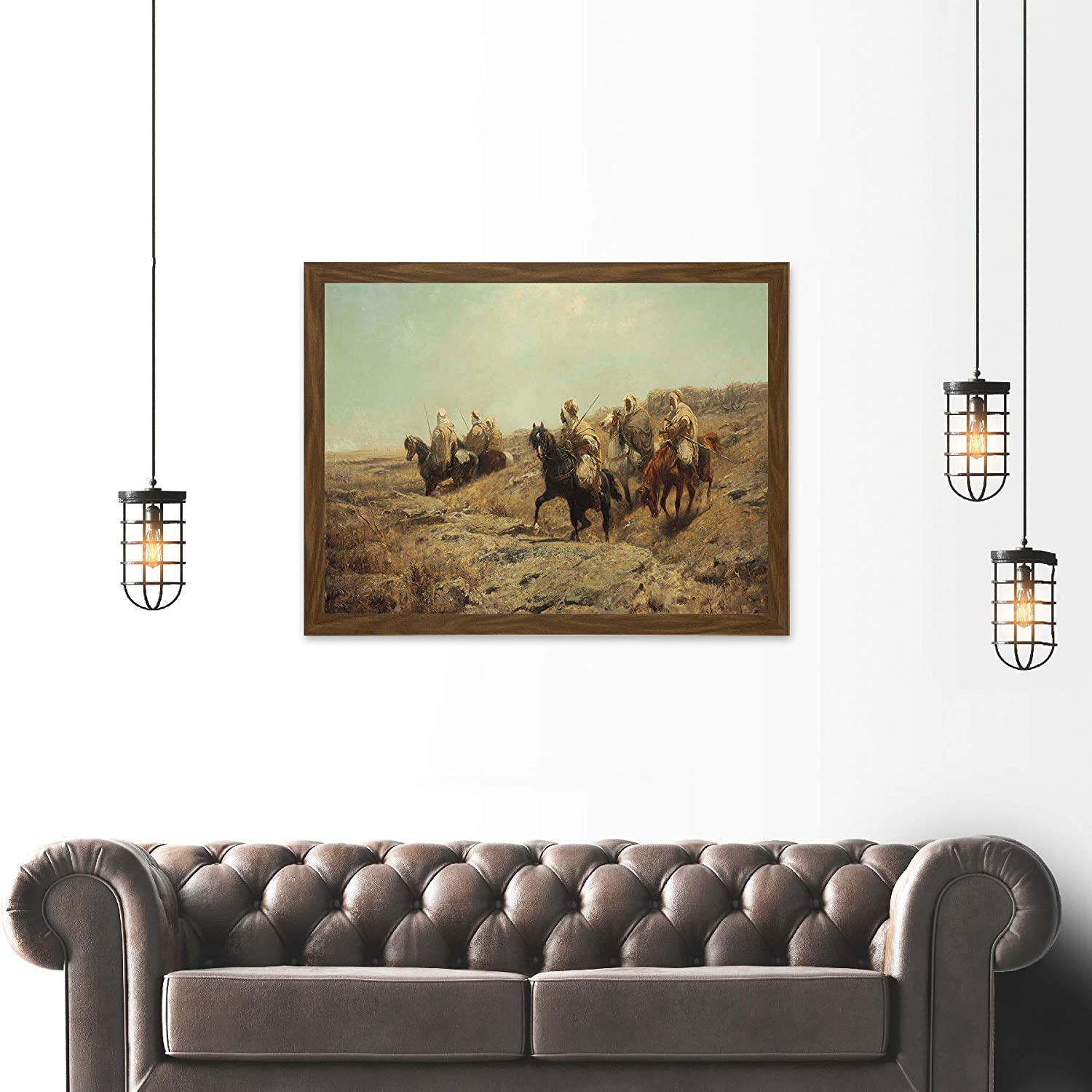Painting Military Schreyer Arab Warriors Lookout Canvas Art Print