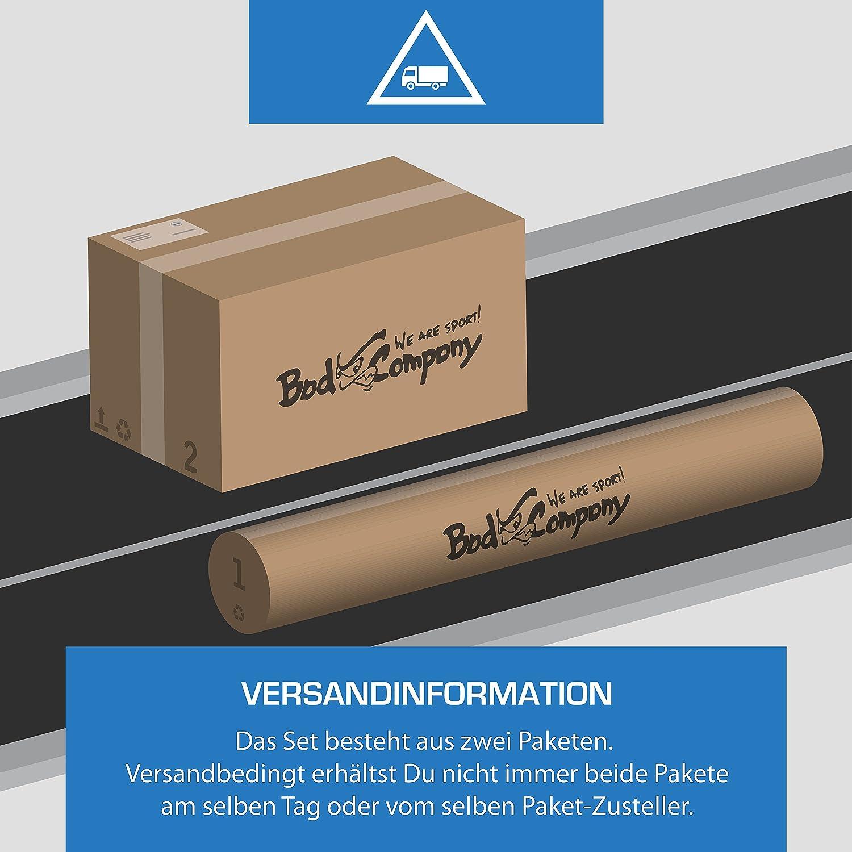 19 Kg Bad Company Aerobic Langhantel-Set I Hantelset mit Langhantelstange und Hantelscheiben