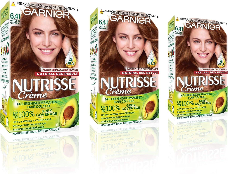 Garnier Nutrisse 6.41 - Tinte para el cabello permanente, Natural Copper