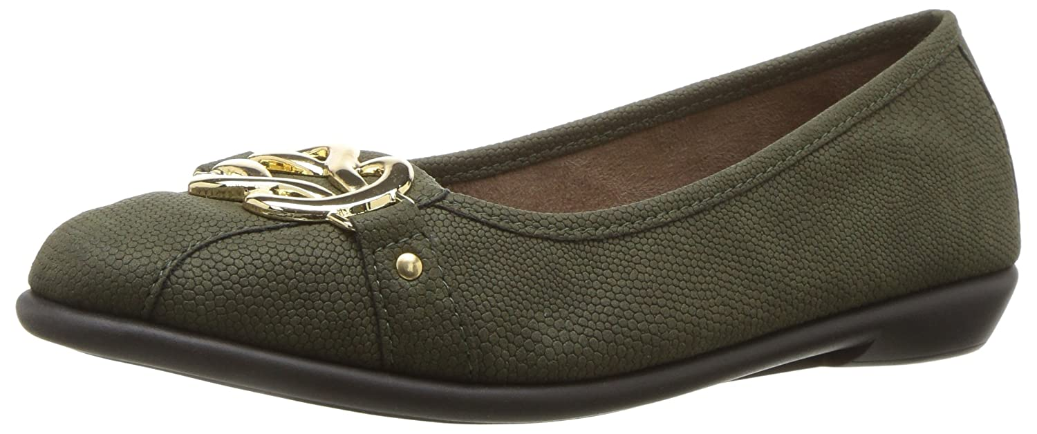 Aerosoles Women's High Bet Ballet Flat B06Y636FN2 10 B(M) US|Green Snake