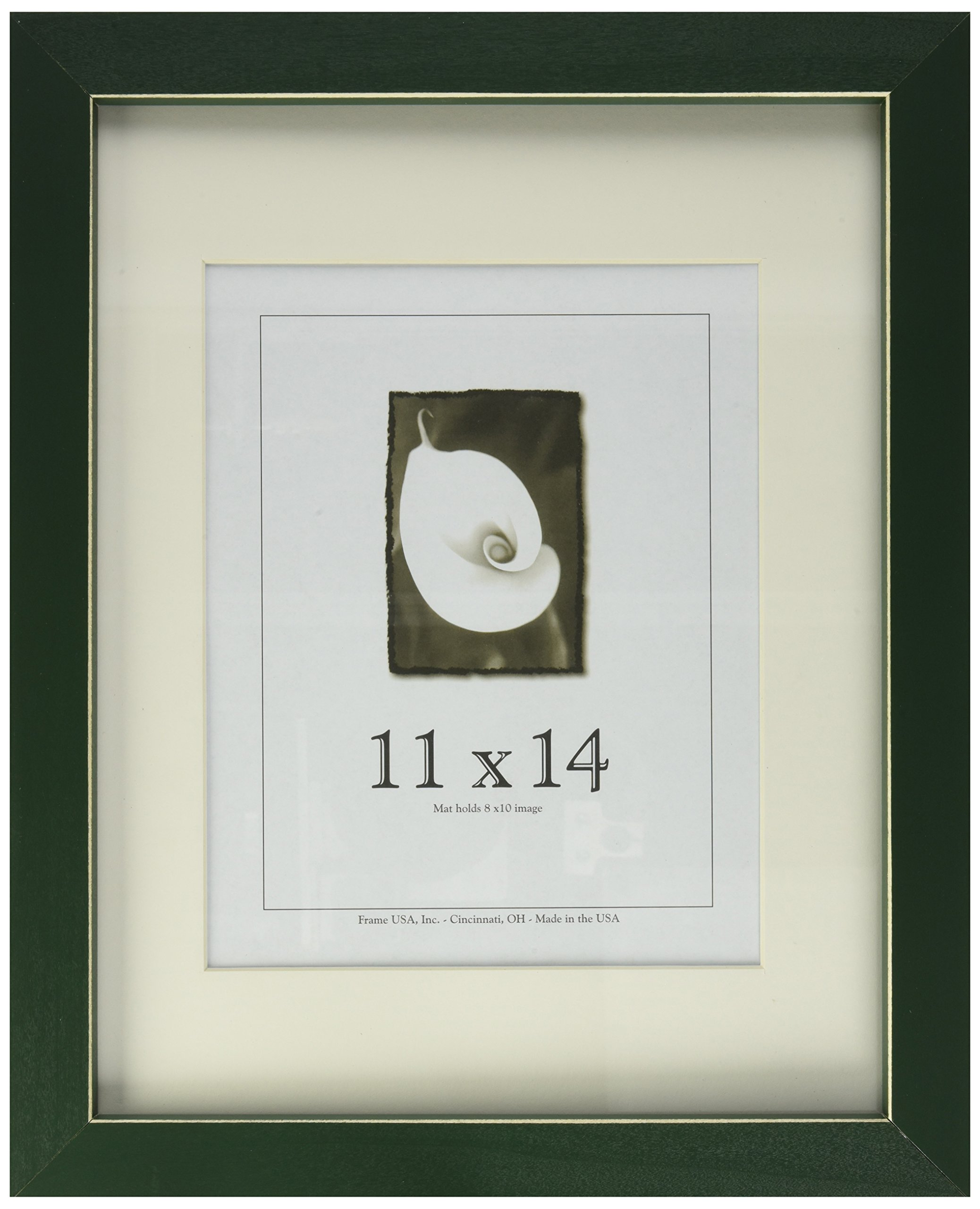 11x14 Green Picture Frame with Clean Cut Edge