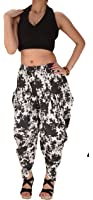 Skirts 'N Scarves Women New Printed Cotton Aladdin Pant