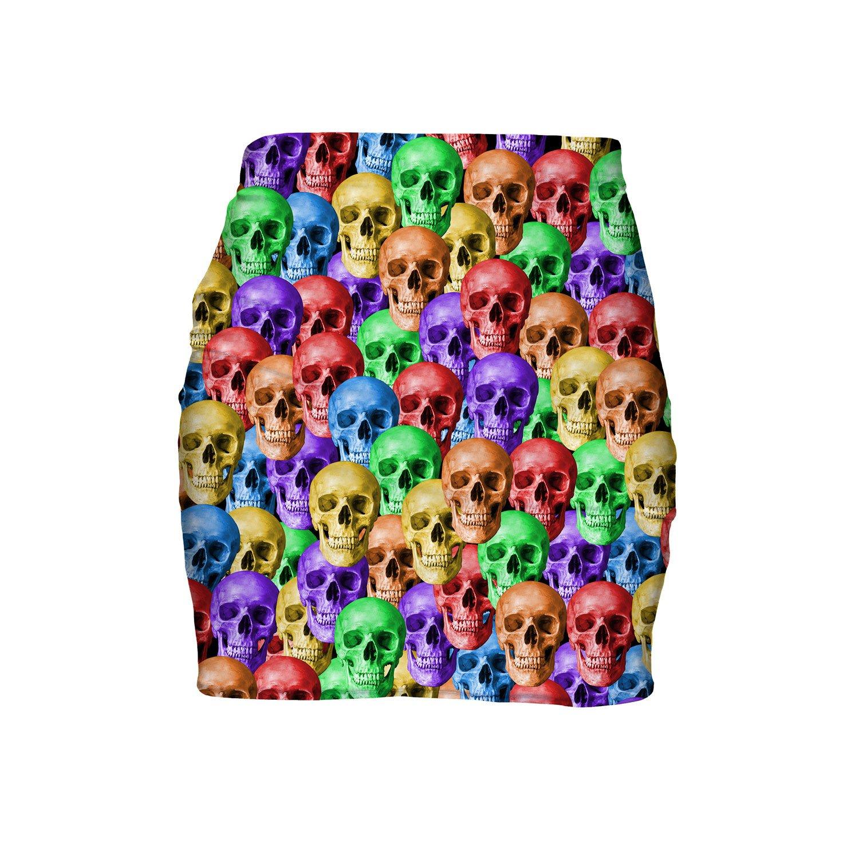 Rainbow Skulls Mini Skirt