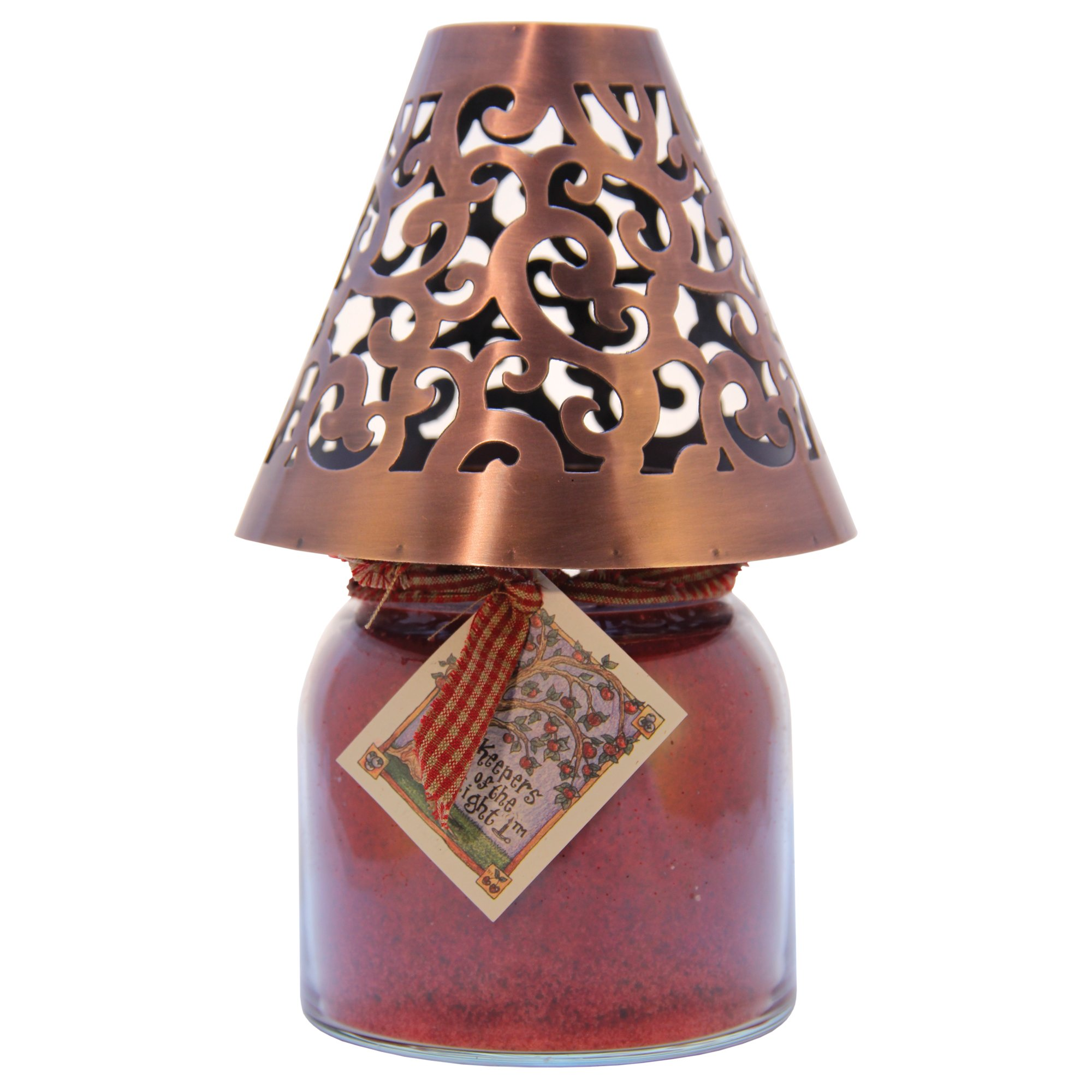 A Cheerful Giver Victorian Candle Shade, Copper