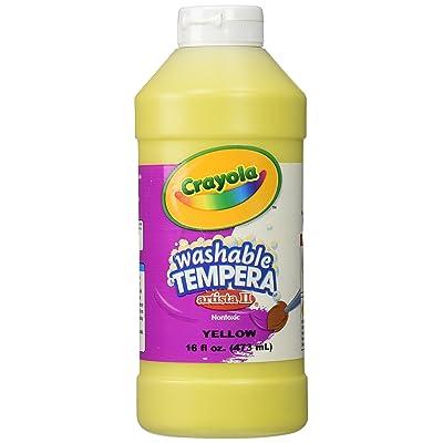 Crayola Artista II Washable Tempera Paint 16oz Yellow: Toys & Games [5Bkhe0502429]