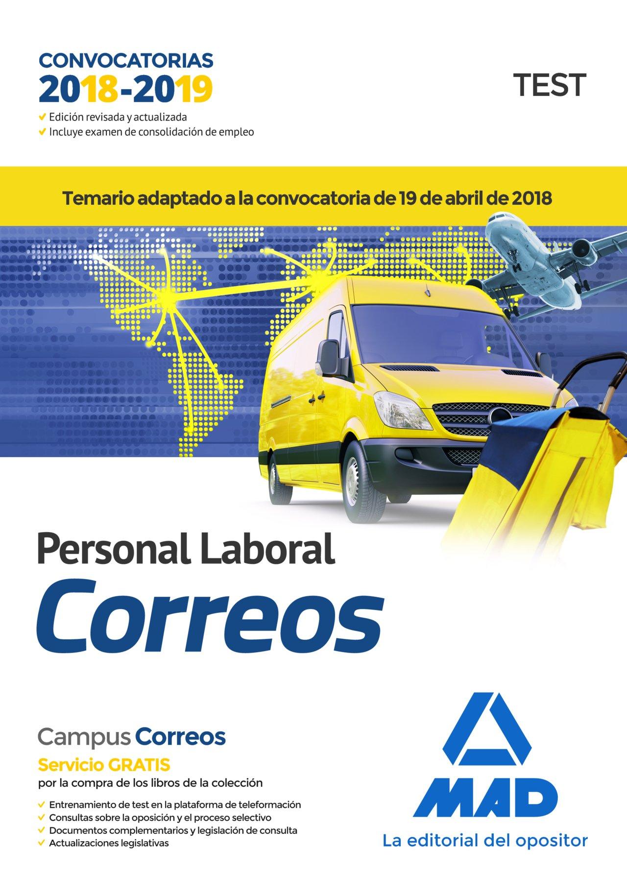 Personal Laboral de Correos y Telégrafos. Test: Amazon.es: Guillén Gil, Luis Ignacio, Forum de Catalunya, S.R.L.: Libros