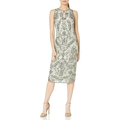 Pisarro Nights Women's Beaded Lace Midi Dress at Women's Clothing store