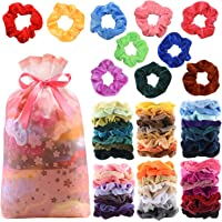 Amazon Price History for:60Pcs Premium Velvet Hair Scrunchies Hair Bands for Women or Girls Hair Accessories with Gift Bag ,Great Gift for Thanksgiving day and Christmas