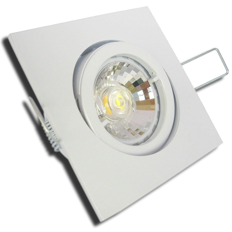 5 Stück MCOB LED Einbaustrahler Cube 12 Volt 5 Watt Schwenkbar Weiß Neutralweiß