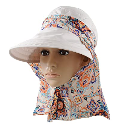 483a17fe5b4 Micoop Wide Brim Visor Hat Foldable UV Protection Summer Beach Sun Hat  Outdoor Flap Hat for
