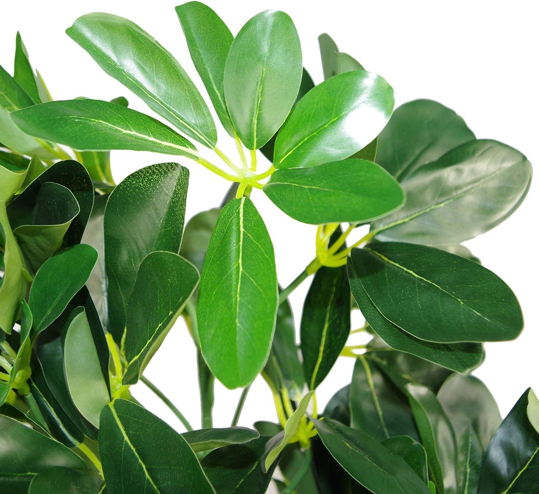 Leaf 65cm Artificielle Schefflera Arboricola Maison Plante Umbrella Tree Or Capella