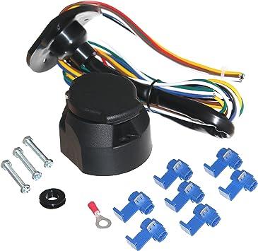 13-polig Dose 12V Montage-Schrauben Set für PKW-Anhänger-Steckdose 7-Pol 6-tlg