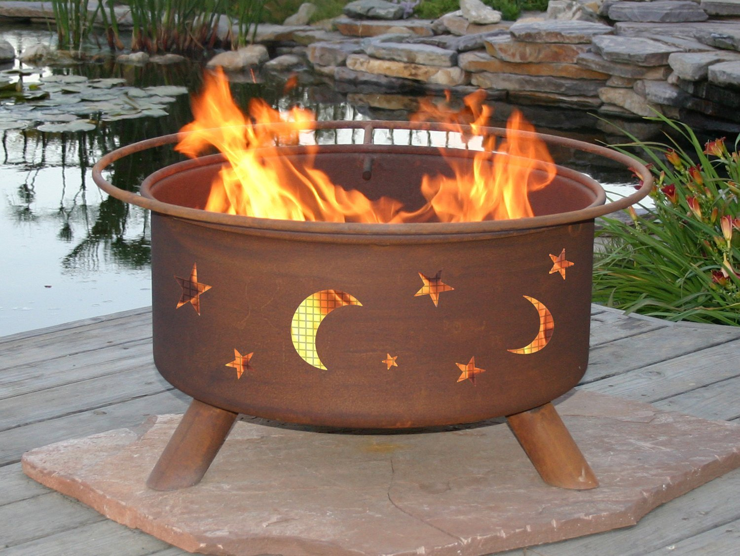 amazon com patina products f100 30 inch evening sky fire pit
