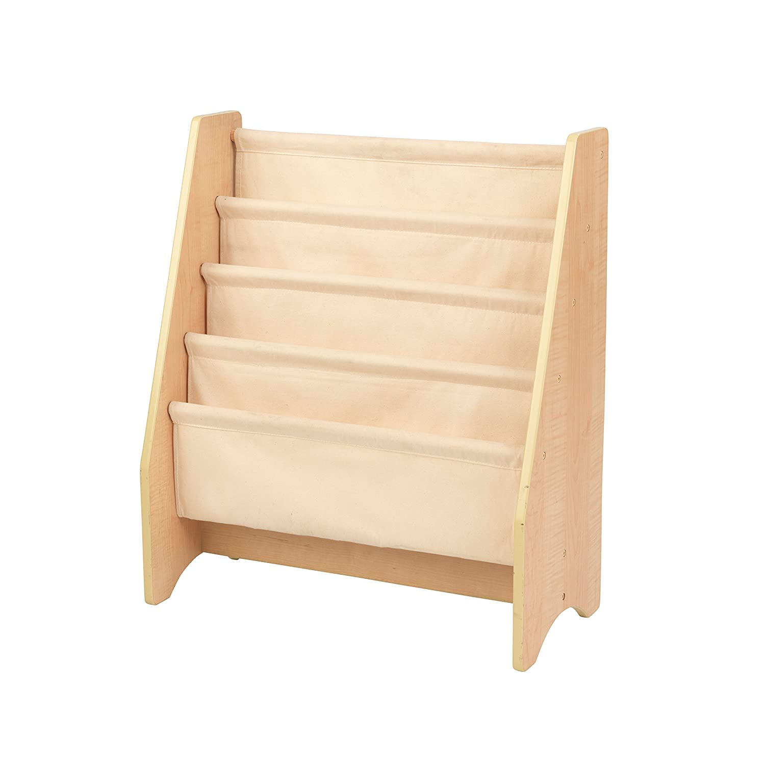 KidKraft 14221 Kids Sling Wooden Bookshelf, Children's bedroom furniture, bookcase display and storage rack - Natural Colors