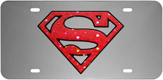 Superman Silver Stainless Steel Universal Car Truck Emblem Decal