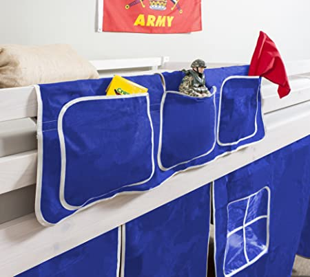 Bed Tidy Pocket Organiser For Cabin Beds Bunks In Blue Amazon Co