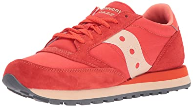 online retailer ed13d 59e50 Saucony Originals Men s Jazz Original CL Windbreaker Sneaker,Red Tan,14  Medium US