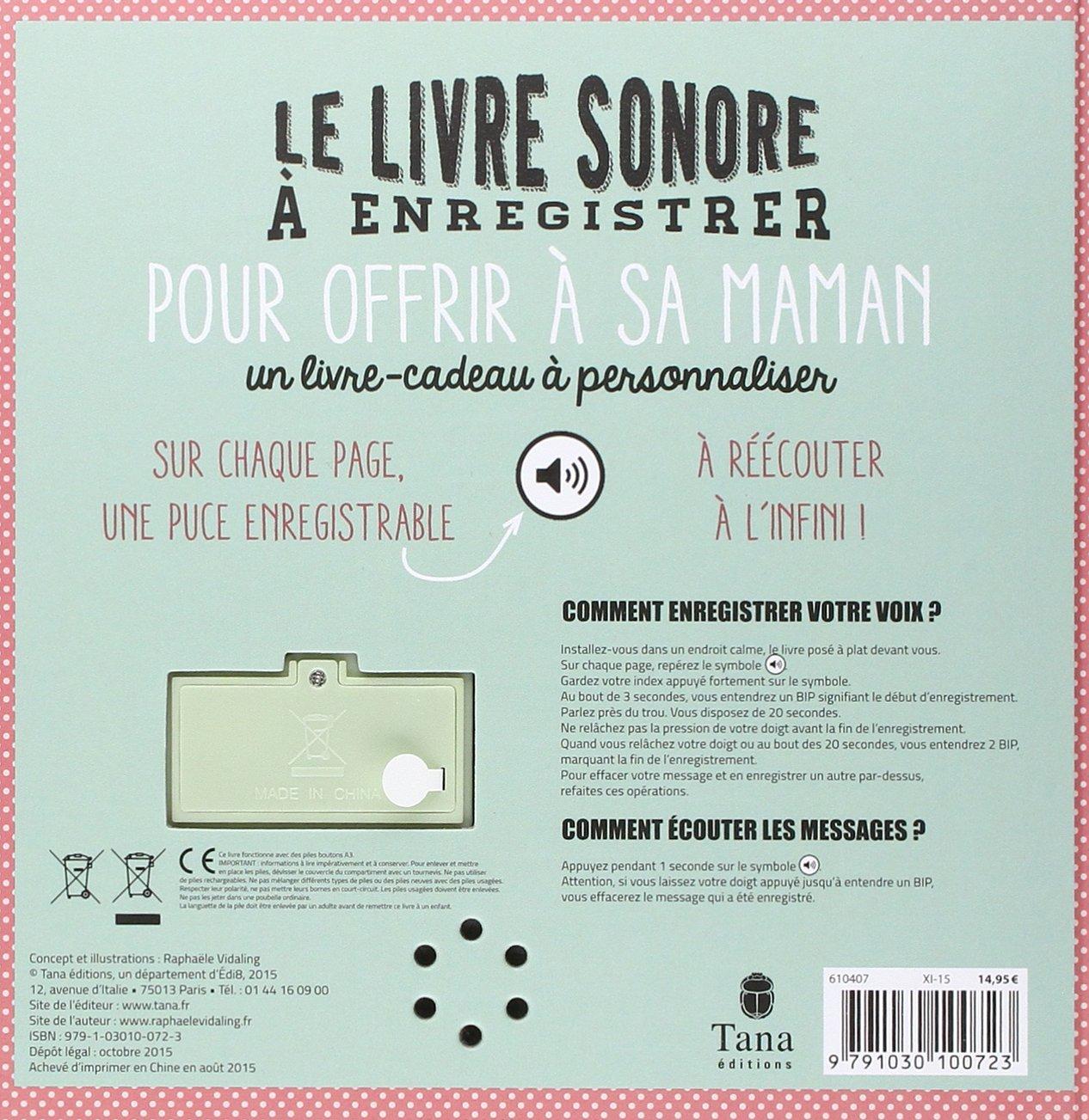 Le Cadeau Original Le Livre Sonore 224 Enregistrer Sakarton border=