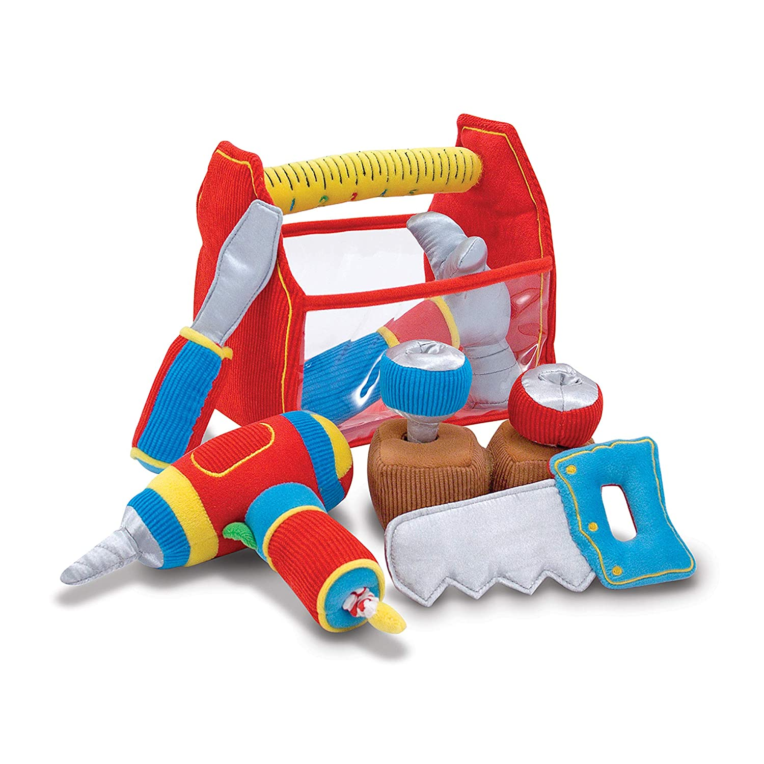 Melissa & Doug Toolbox Fill and Spill Toddler Toy With Vibrating Drill  (9 pcs)