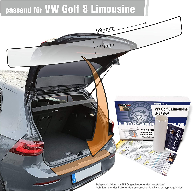 Lackschutzshop Passform Lackschutzfolie Kompatibel Mit Ladekantenschutz Passend Für Vw Golf 8 Viii Limousine Transparent 150µm Auto