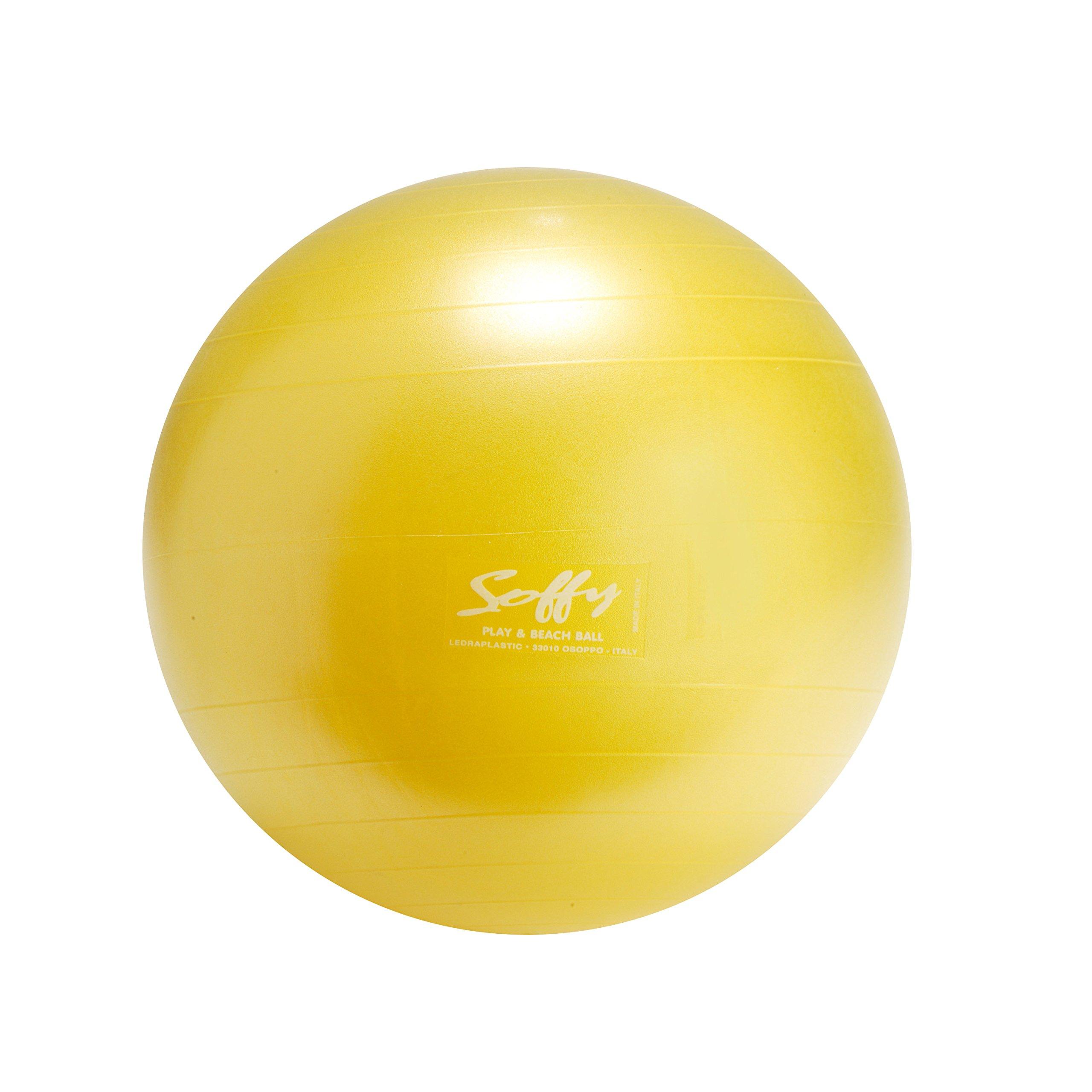 Gymnic 8012YELLOW Soffy Ball, Yellow, 18''