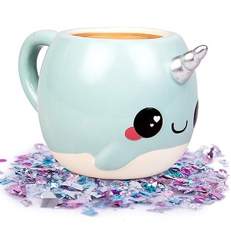 Of Расk NarwhalUnicorn Glitter Narwhalоne Sea Coffee Nizzle Mug 18 Oz The Galaxy 8nXk0wOP