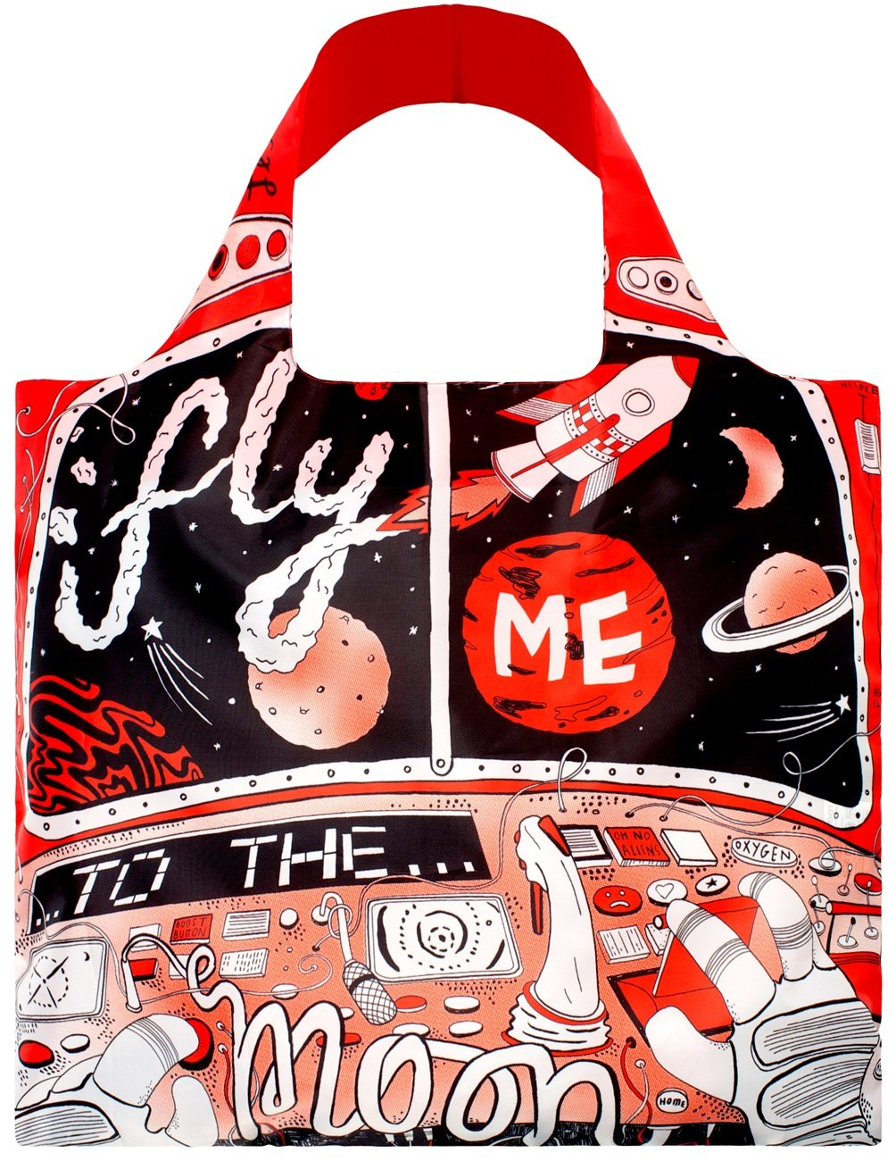 LOQI Artist Moon Reusable Shopping Bag, Multicolor AR.JW.MO