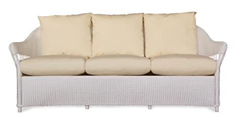 Exceptionnel Lloyd Flanders 72255 001 157 Freeport Collection Sofa In White Loom Finish,  Canvas