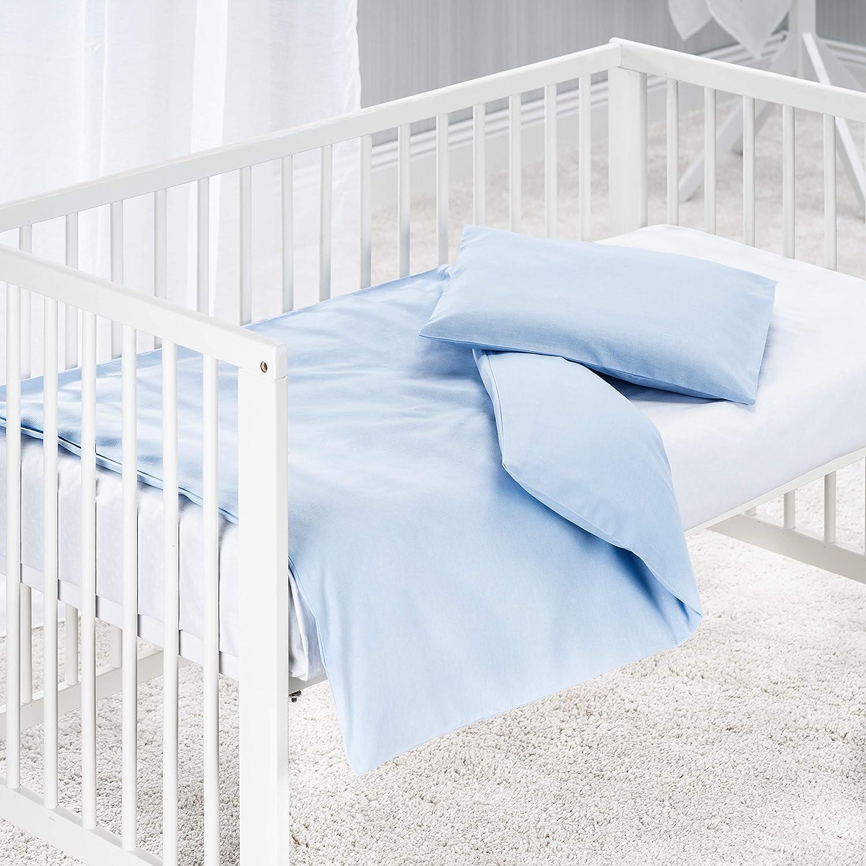 Baumwolle Weiß Makian Baby Bettwäsche Set 80 x 80 cm Kinderwagen Stubenwagen