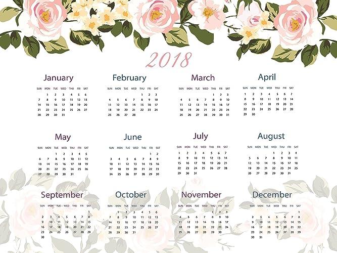 large 2018 calendar 2018 wall calendar calendar 2018 new year gift floral