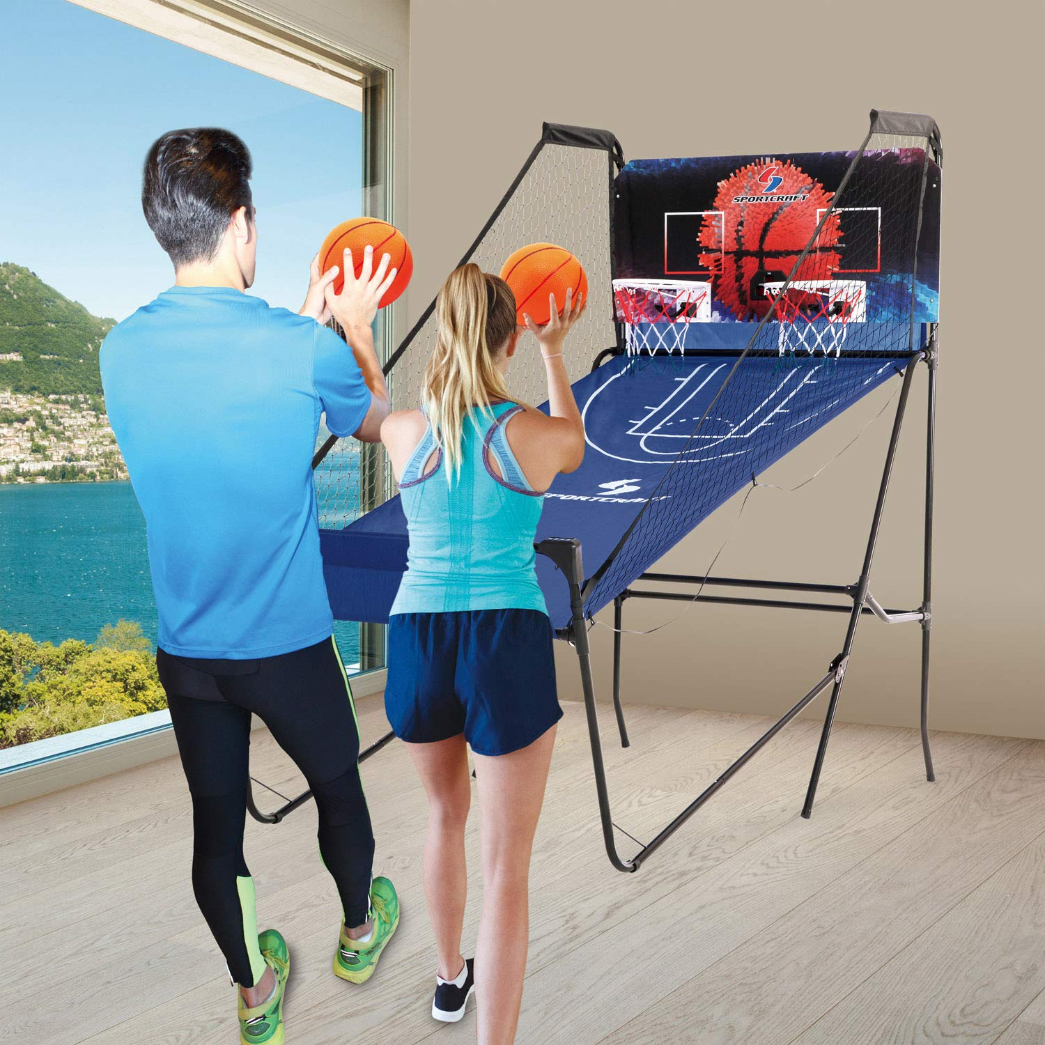 Sportcraft SIR00733 Quick Set-Up Basketball Arcade 8 Game Modes, 2-Players, Setup Less Than 10 Mins, No Tools Required, Heavy Duty 1'' Steel Tube by Sportcraft (Image #7)