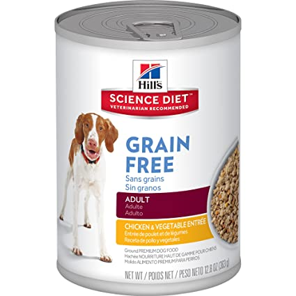 HillS Science Diet Adult Grain-Free Chicken Entree Dog Food Can, 12.8 Oz,