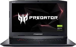 "Acer Predator Helios 300 PH317-52-77A4 Gaming Laptop, Intel Core i7-8750H, GeForce GTX 1060 Overclockable Graphics, 17.3"" 144Hz Full HD, 16GB DDR4, 256GB PCIe NVMe SSD, 1TB HDD, VR Ready"