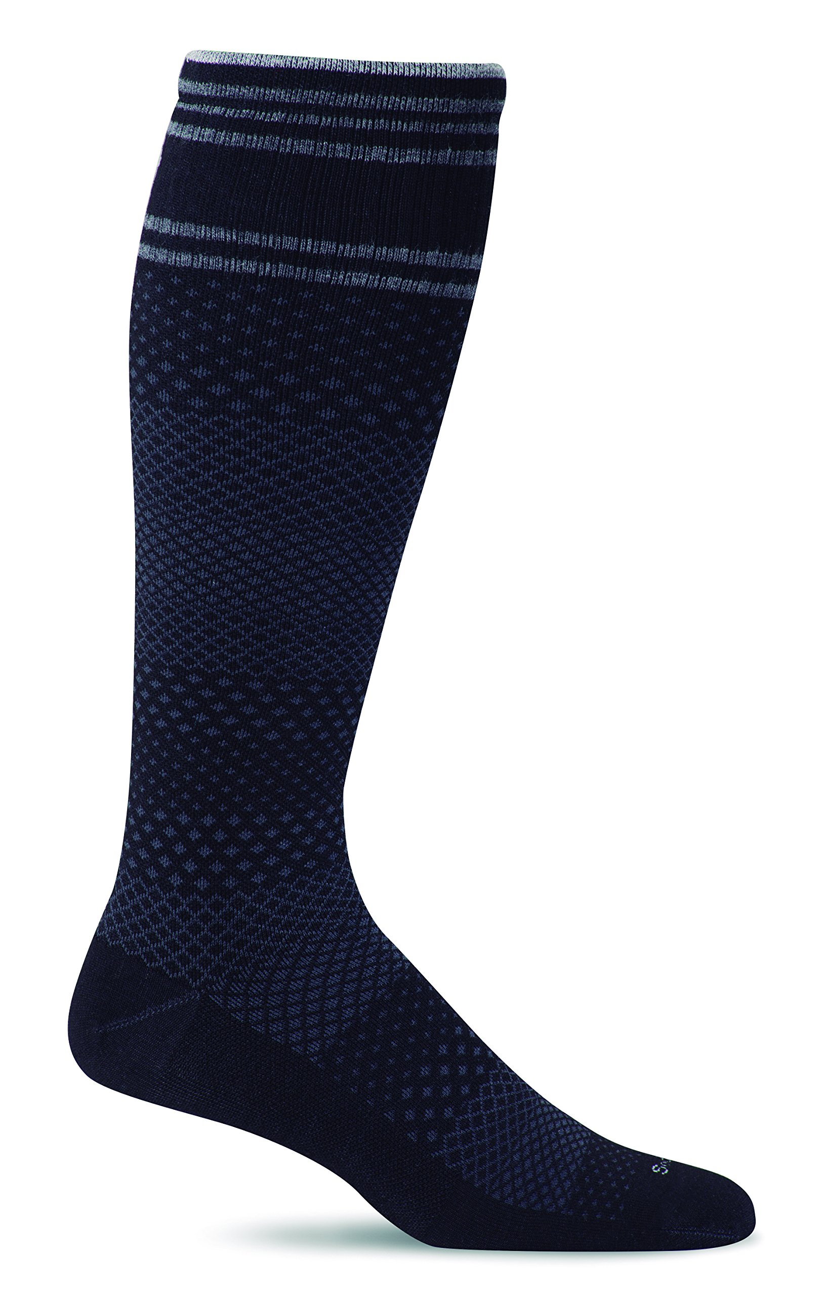 Sockwell Men's Smooth Vibe Firm (20-30mmHg) Graduated Compression Socks, Black, Large/X-Large by Sockwell