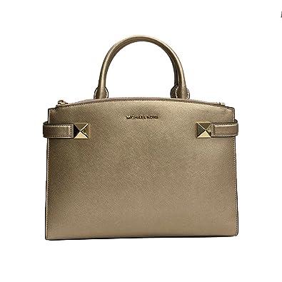 d784981460d3 Amazon.com  Michael Kors Karla MD Satchel Pale Gold Leather (35T8MKGS2M)   Shoes