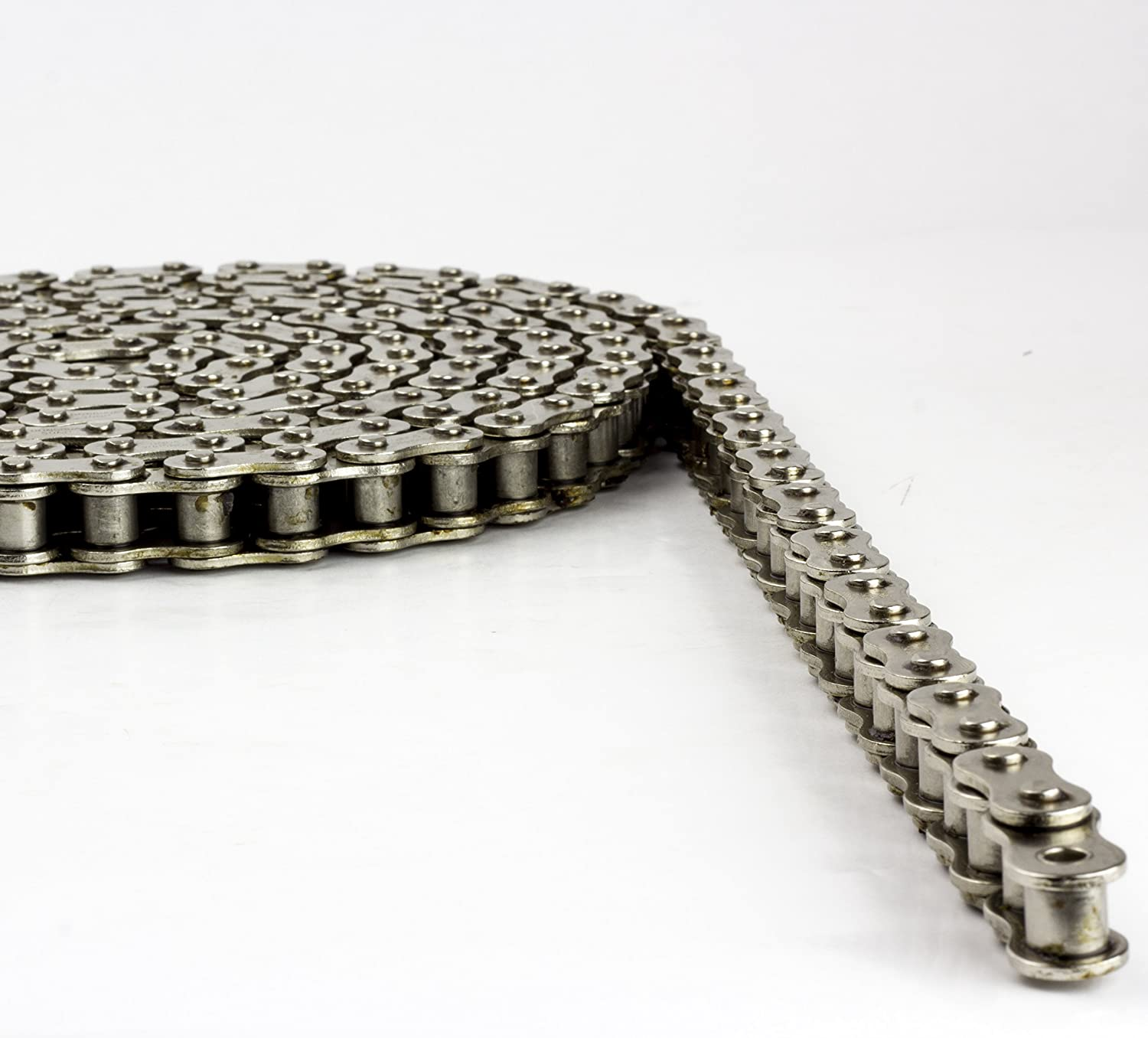 240 Links Corrosion Resistant Jeremywell #40NP Nickel Plated Roller Chain 10ft with 1 Master Link