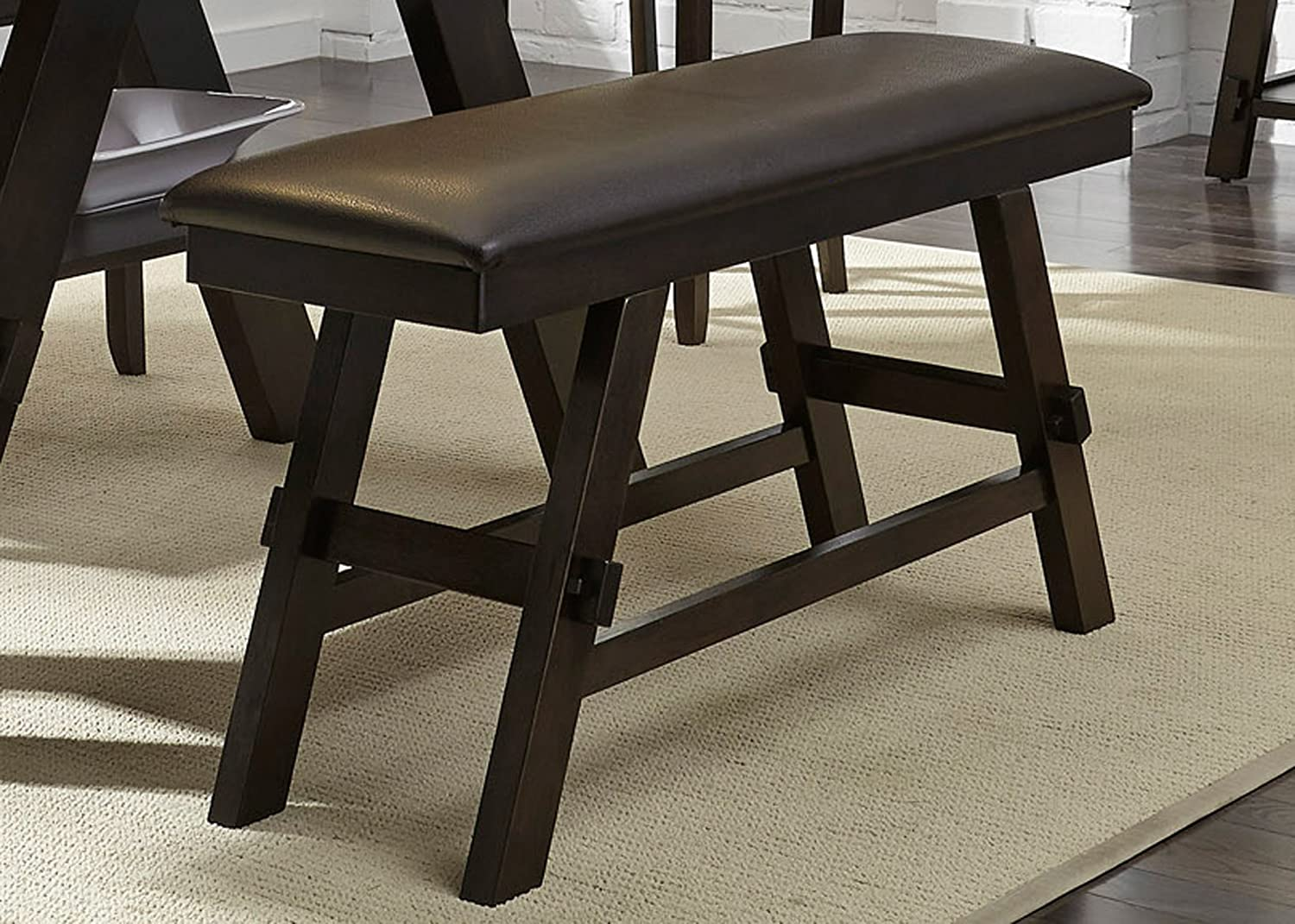 "Liberty Furniture Industries Lawson Counter Bench, 48"" x 16"" x 26"", Light and Dark Espresso"