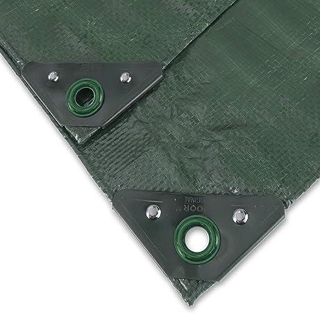 90g//m2 ABDECKPLANE 6x10m Gewebeplane Schutzplane Plane Folie mit Öse grün