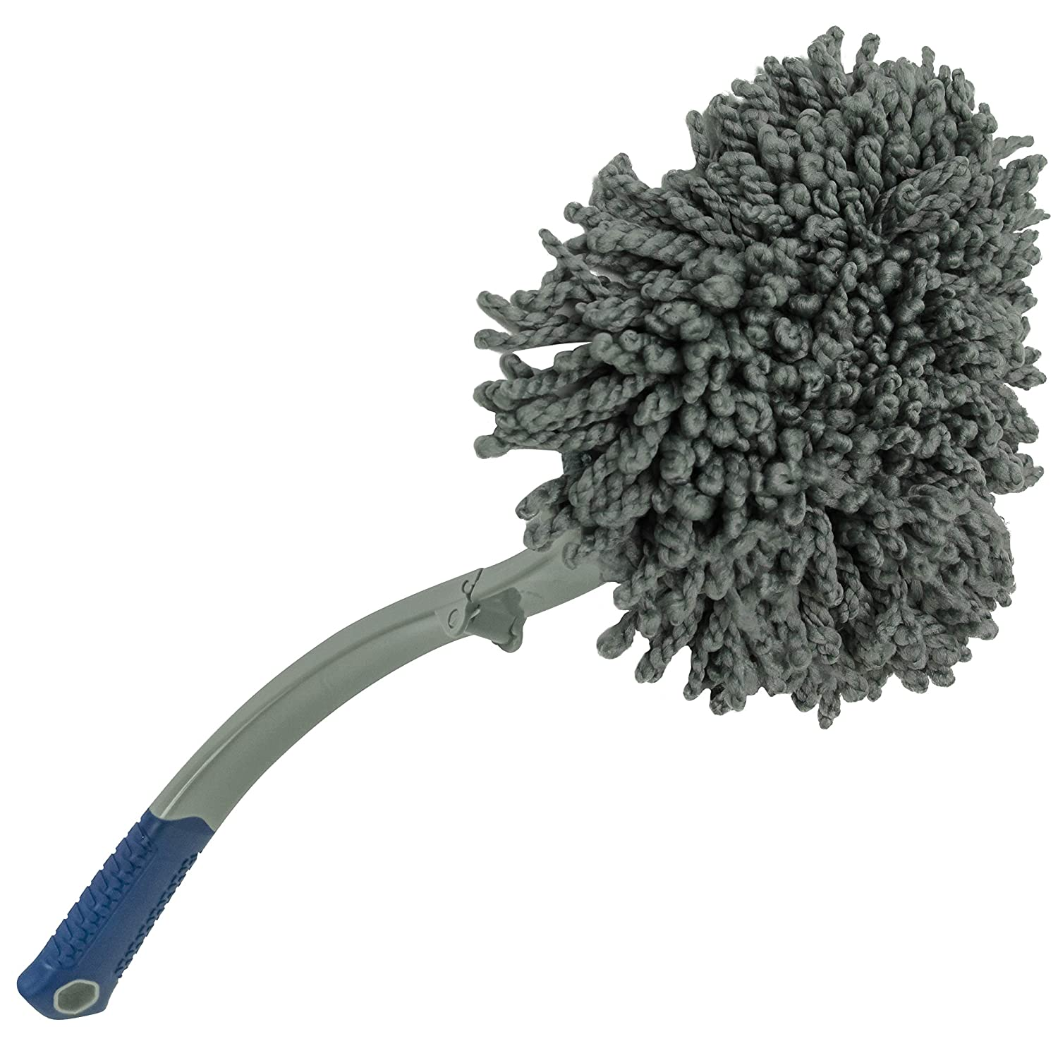 939301 Dusting Wand for Auto and Home Interior Includes Collapsible Handle and 2 Chenille Pads S/&T INC