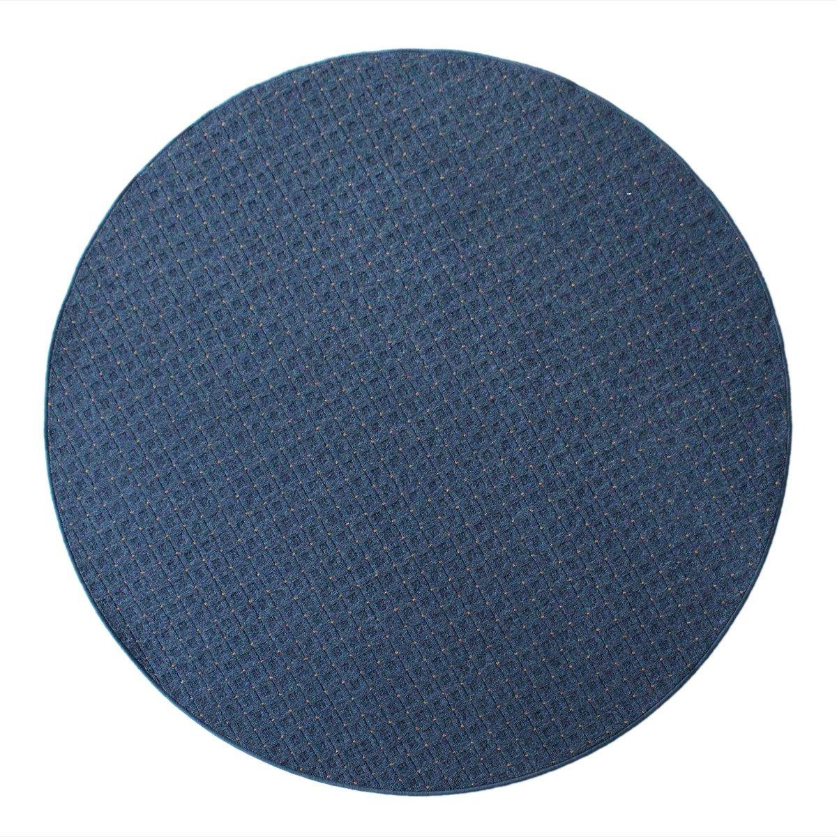 Havatex Schlingen Teppich Cambridge rund - Farbe wählbar - Geprüfte Qualität  schadstoffgeprüft pflegeleicht robust und - für Wohnzimmer Schlafzimmer Flure Büros, Farbe Blau, Größe 300 cm rund