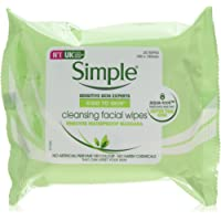 Simple Kind to Skin Cleansing Facial Wipes to Lift Impurities and Make-up Out, 25 Wipes, Pack of 6