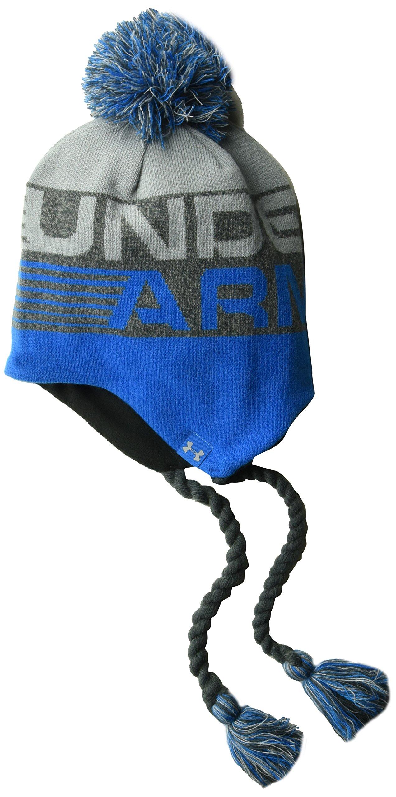 Under Armour Boys' Tassle Beanie, Cruise Blue (899)/Steel, One Size